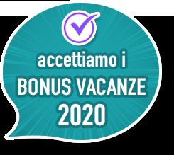 accettiamo i Bonus Vacanze 2020